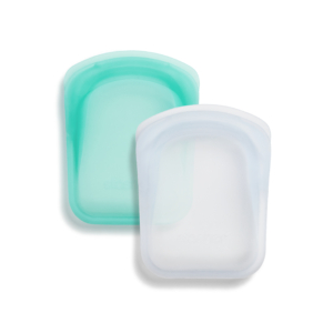 Stasher Reusable Silicone Pocket 2-Pack (1 Clear + 1 Aqua)