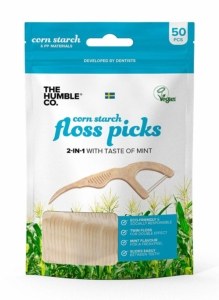 The Humble Co. – Dental Floss Picks (Mint)