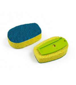Dish Sponge Refill with Abrasive – Green